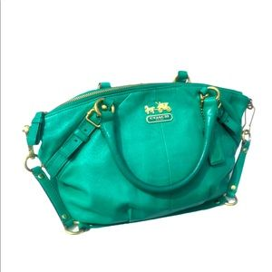 COACH Madison Sophia Emerald Satchel HTF